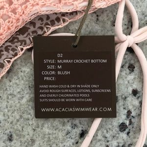acacia swimwear Swim - Acacia Blush Murray Crochet Bikini Bottoms M